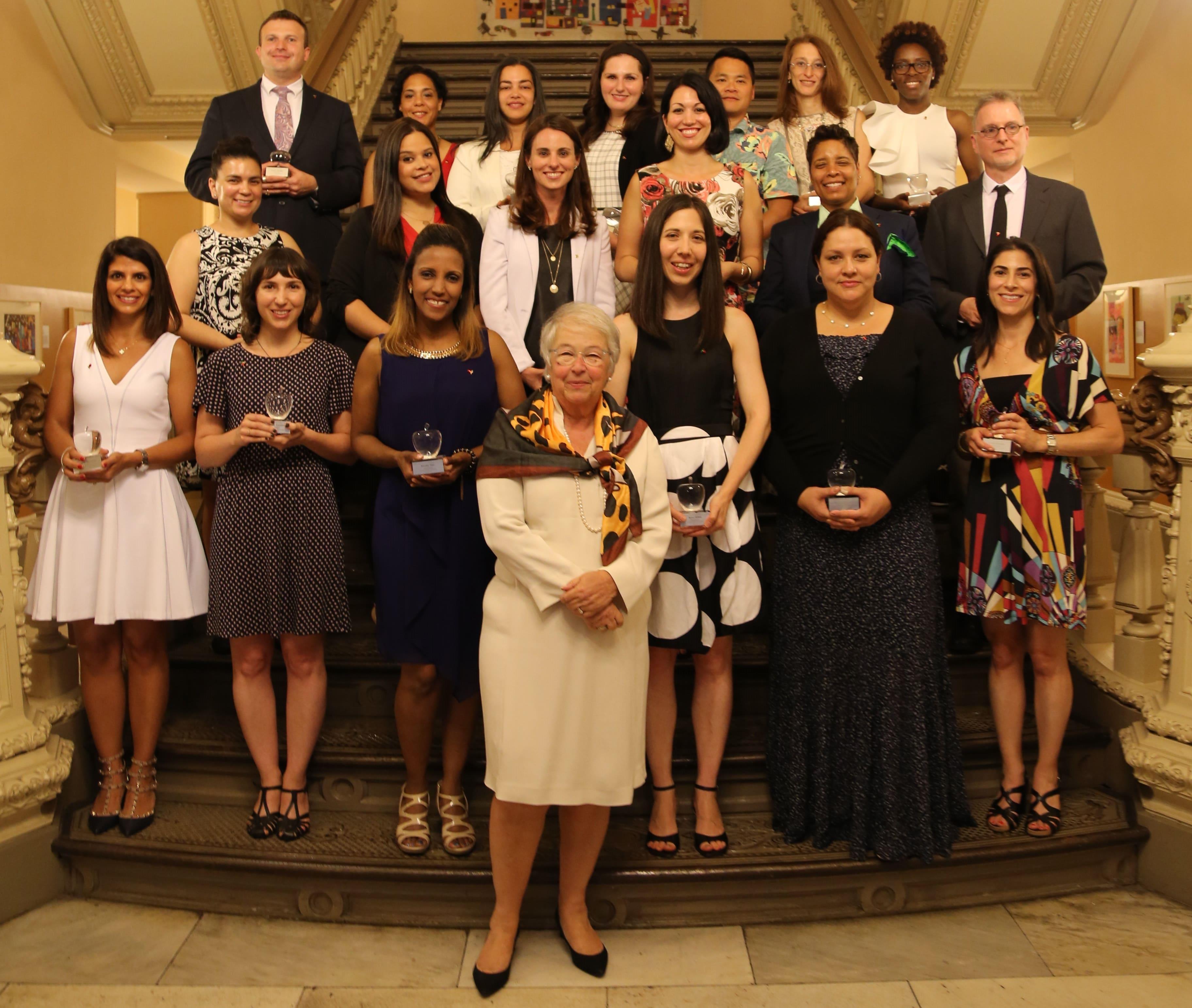 2017 Big Apple Award Recipients Pose with Chancellor Fariña