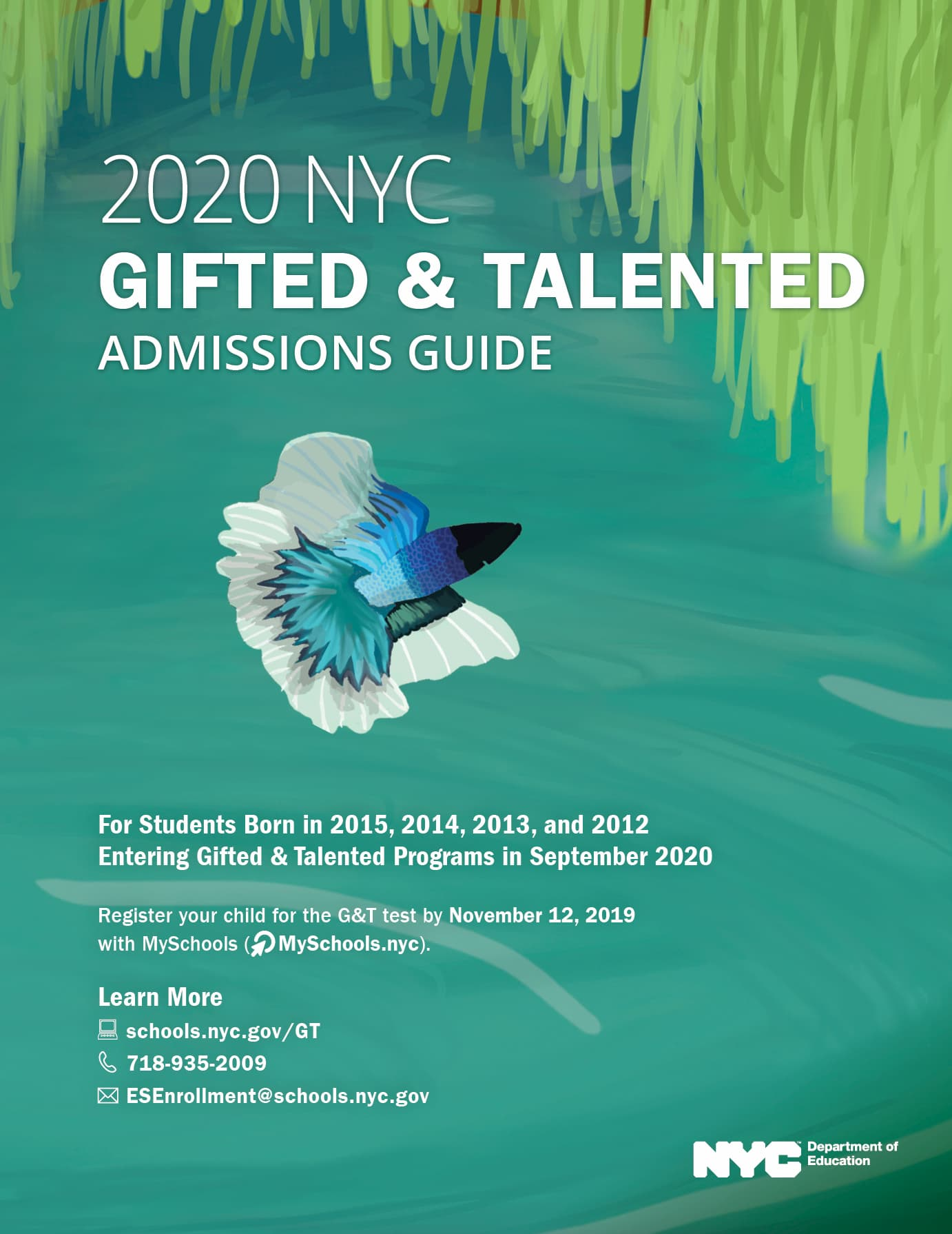 2020 NYC G&T Admission Guide Cover