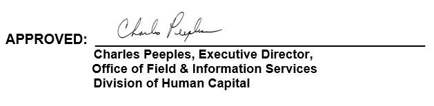 Charles Peeples, Executive Director, Office of Field & Information Services Division of Human Resources