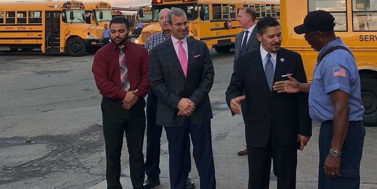 Chancellor greets bus drivers