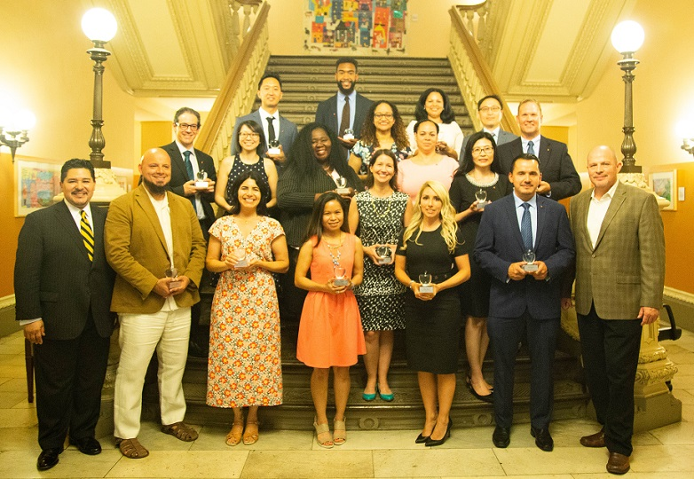 2018 Big Apple Award Recipients Pose with Chancellor Richard A. Carranza