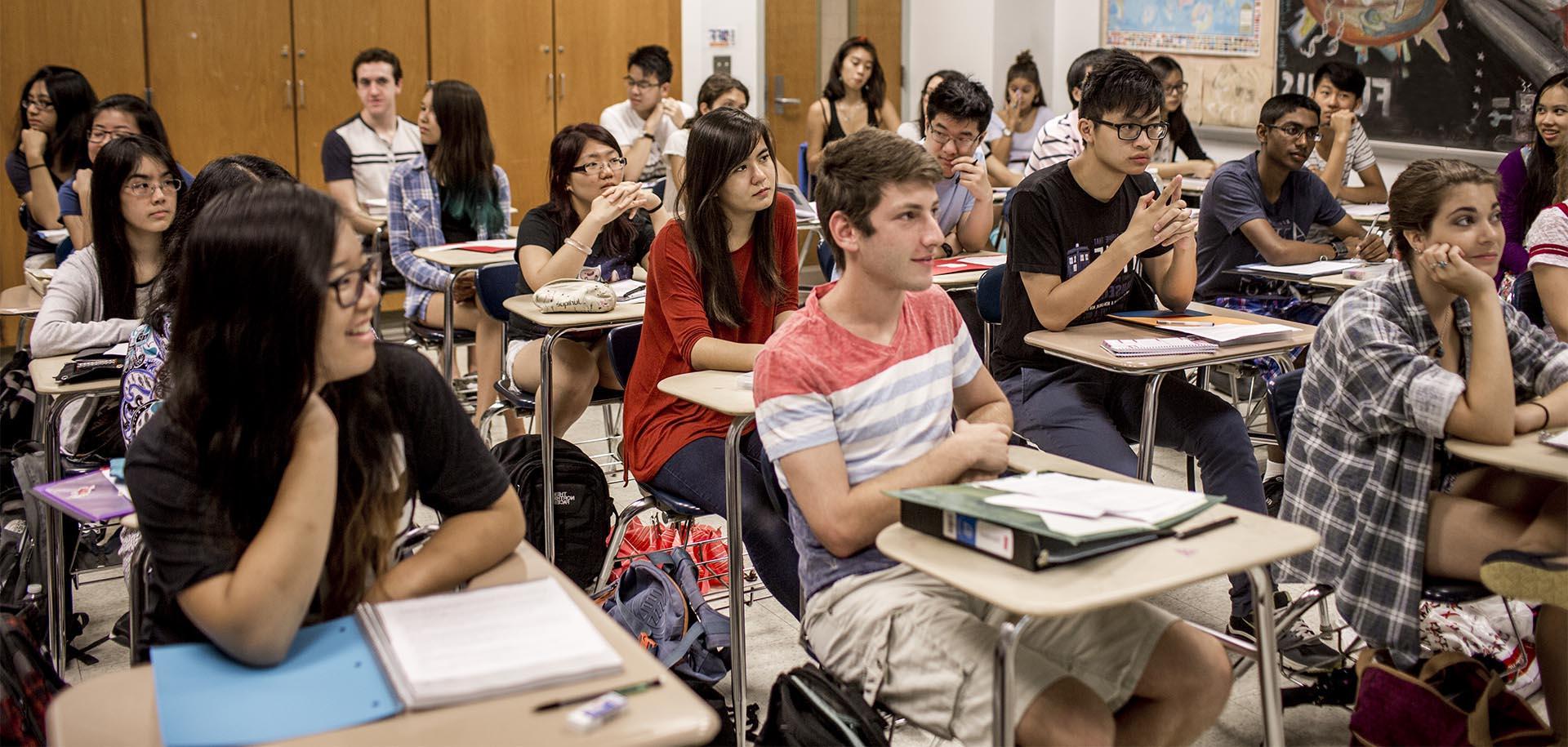 High Schools Students in a classroom