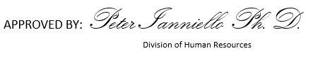 Signature for Peter Ianniello