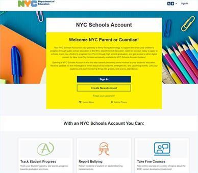 NYCSA Portal Landing Page