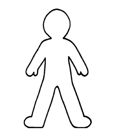 Where do I feel exercise: outline of a person