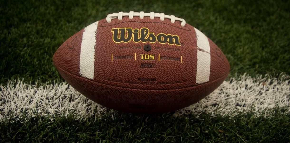 Football on a field